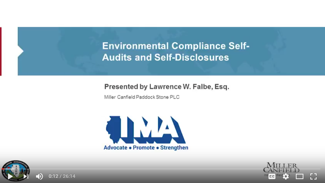Environmental Compliance Self-Audits and Self Disclosures Link